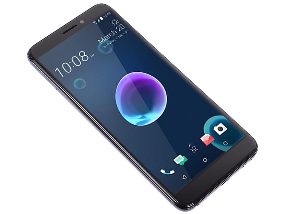 Смартфон HTC Desire 12 Cool Black MediaTek MT6739 (1.3)/3 Gb/32 Gb/5.5 (1440 x 720)/DualSim/LTE/BT 4.2/Android 8.0 смартфон zte blade v10 vita 2 32 black graphite black spreadtrum sc9863 1 6 2 gb 32 gb 6 26 1520 x 720 dualsim lte nfc bt android 9 0