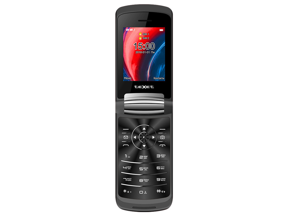 Мобильный телефон teXet TM-317 (Black) 2.4 240x320 / 2G / BT / 0.3Mp texet tm 228 dual sim black