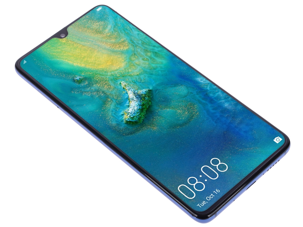 Смартфон Huawei Mate 20 (Midnight Blue) HiSilicon Kirin 980 (2.6) / 6GB / 128GB / 6.53 2244x1080 / 2Sim / 3G / 4G LTE / 12Mp + 16Mp + 8Mp, 24Mp / Android 9.0 смартфон huawei mate 20 lite золотой 6 3 64 гб lte wi fi gps 2340 1080 20mp 2mp 24mp 2mp bt 3750mah