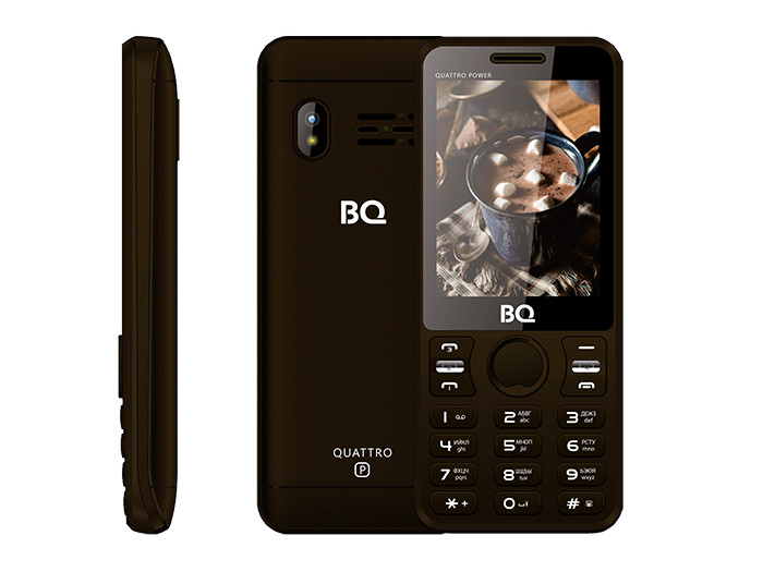Мобильный телефон BQ-2812 Quattro Power Brown телефон мобильный bq boom l