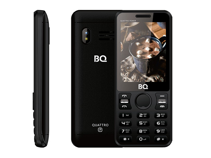 BQ-2812 Quattro Power Black мобильный телефон bq mobile bq 2812 quattro power gold