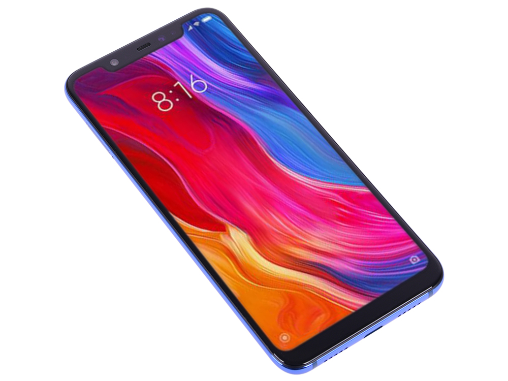 Смартфон Xiaomi Mi 8 128 Blue 8 Core(2.8GHz)/6GB/128GB/6.21
