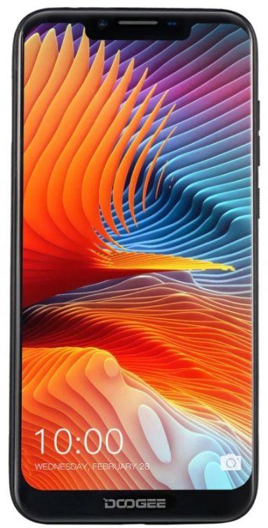 Смартфон Doogee BL5500lite Black MediaTek MT6739 (1.3)/16 Gb/2 Gb/6.19 (1500x720)/DualSim/3G/4G/BT/Android 8.1 смартфон lg g7 thinq lmg710emw acisbk aurora black qualcomm snapdragon 845 2 5 64 gb 4 gb 6 3120x1440 dualsim 3g 4g bt wi fi 16mp 16mp 8mp gps glonas android 7 1