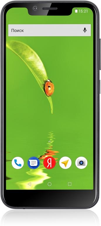 Смартфон Fly View Black MediaTek MT6739 (1.5)/8 Gb/1 Gb/5.5 (1132x540)/DualSim/3G/4G/BT/Android 8.1 смартфон alcatel a3 xl 9008d sideral gray silver mediatek mt8735b 1 гб 8 гб 6 1280x720 dualsim 3g 4g 8mpix 5mpix bt android 7 0