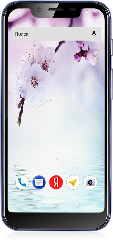 Смартфон Fly View Max Blue MediaTek MT6739 (1.3)/16 Gb/2 Gb/5.5 (1132x540)/DualSim/3G/4G/BT/Android 8.1 смартфон huawei mate 20 lite sne lx1 blue hisilicon kirin 710 2 2 64 gb 4 gb 6 3 2340x1080 dualsim 3g 4g bt android 8 1