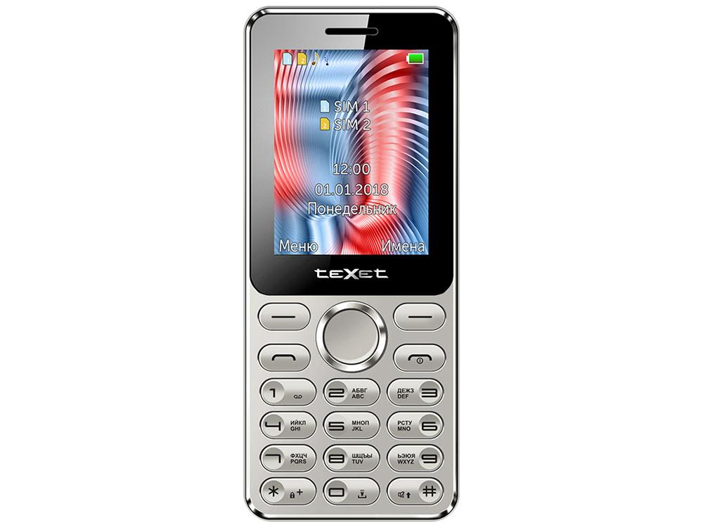 Мобильный телефон TEXET TM-212 Silver 32 Mb/2.4 (320x240)/DualSim радиотелефон texet tx d6955a
