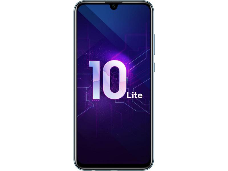 Смартфон Honor 10 Lite 64Gb (HRY-LX1) Sapphire Blue Kirin 710 (2.2)/64 Gb/3 Gb/6.21 (2340x1080)/DualSim/3G/4G/BT/Android 9 huawei p20 lite 64gb 4g pink смартфон