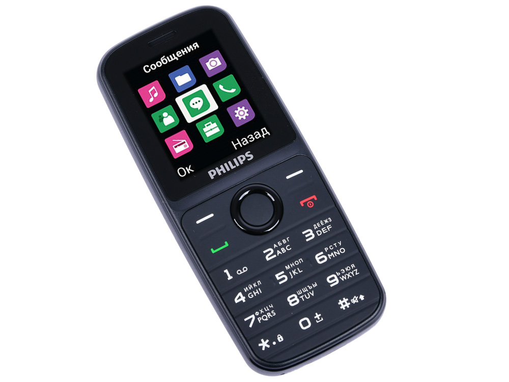 Мобильный телефон Philips E109 Black 1.77 (128 x 160)/DualSim телефон