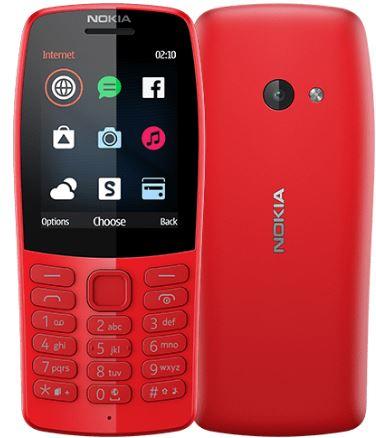 Мобильный телефон NOKIA 210 DS Red TA-1139, 2.4