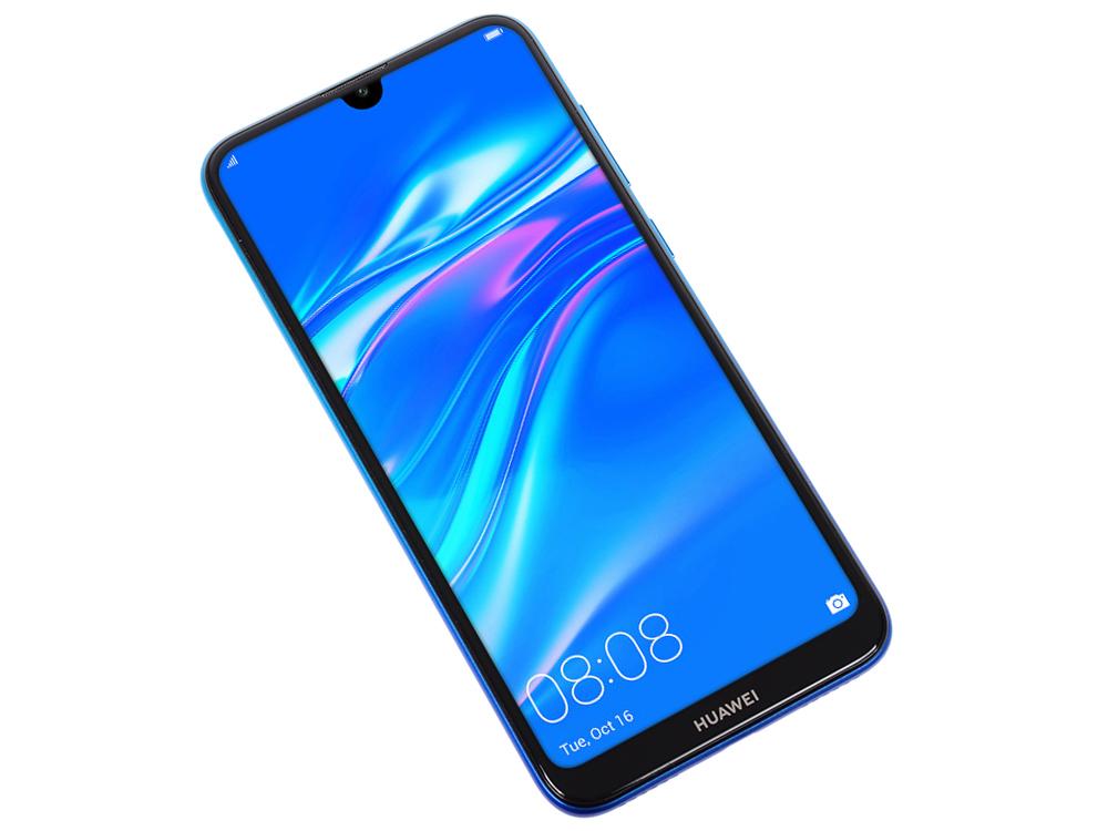 цена на Смартфон Huawei Y7 2019 (Aurora Blue) Snapdragon 450 (1.8) / 3GB / 32GB / 6.26