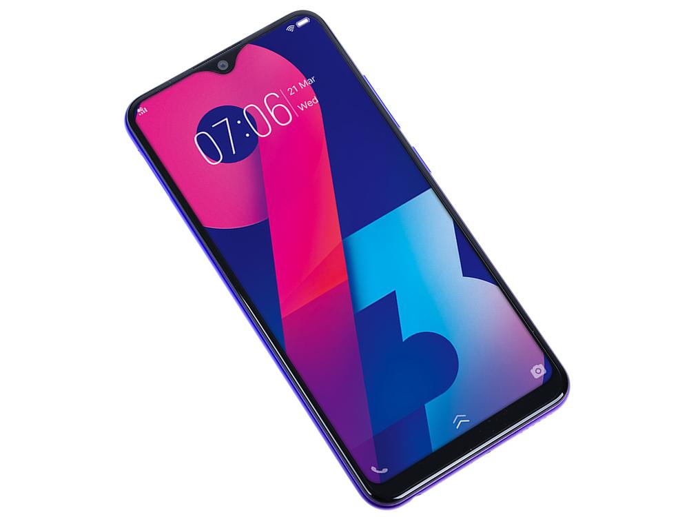 Смартфон Vivo Y93 (Violet) MediaTek Helio P22 (2.0) / 4GB / 32GB / 6.22 1520x720 IPS / 2Sim / 3G / 4G LTE / 13Mp + 2Mp, 8Mp / Android 8.1 смартфон doogee x50l black mediatek mt6737m 1 1 1gb 16 gb 5 960x480 2sim 3g 4g lte 5mp 3mp 5mp android 8 1