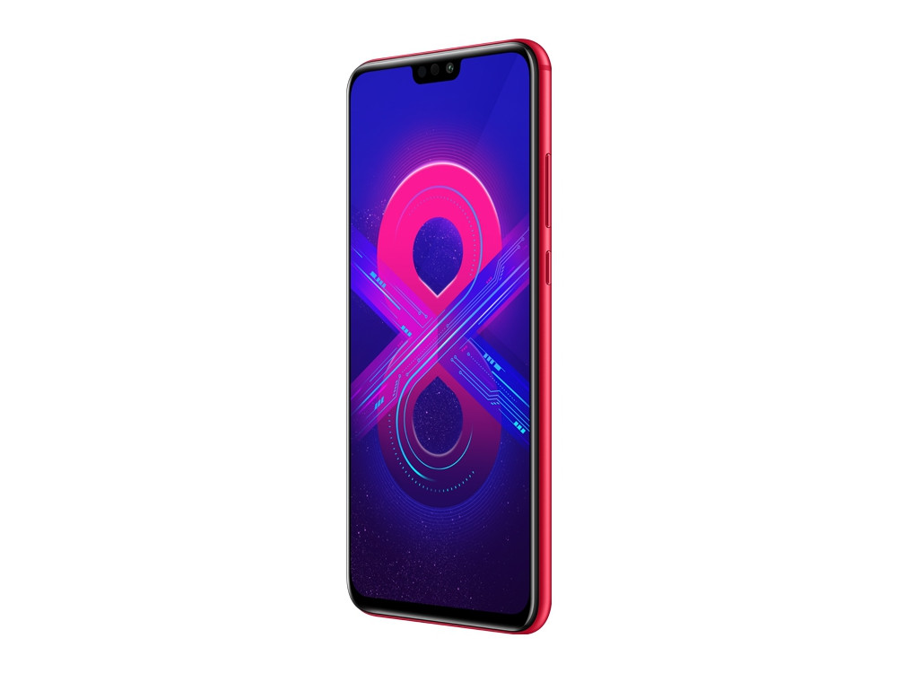 Смартфон HONOR 8X Red HiSilicon Kirin 710 (2.2)/4 Gb/64 Gb/6.5 (2340 x 1080)/DualSim/LTE/NFC/BT 4.2/Android 8.1 смартфон huawei p smart z black hisilicon kirin 710f 2 2 4 gb 64 gb 6 59 2340 x 1080 dualsim lte nfc bt 4 2 android 9 0