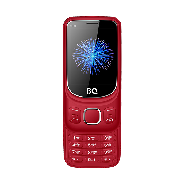Мобильный телефон BQ-2435 Slide Red 32MB / 32MB / 2.4 240x320 / 2Sim / 2G / BT / 0.3Mp мобильный телефон texet tm 501 red 2 8 240x320 2g 3g bt 0 3mp