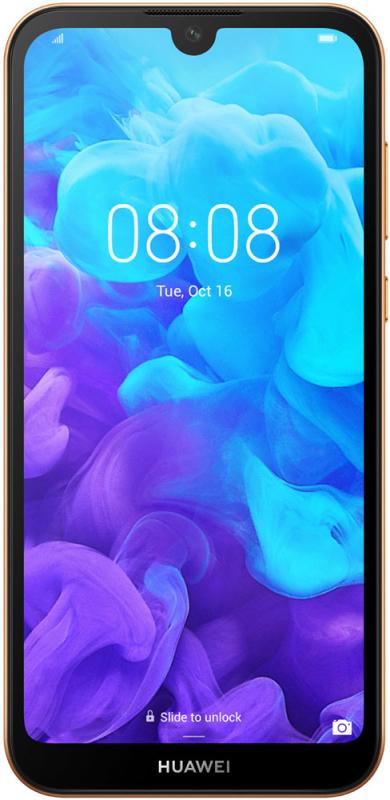 "Смартфон Huawei Y5 2019 коричневый 3G 4G 5.71"" And9 802.11abgn GPS"