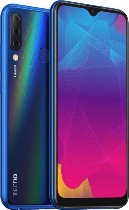 Смартфон Tecno Camon 11S (CB7) Aqua Blue/голубой MediaTek MT6761 (2.0)/3 Gb/32 Gb/6.2 (1520 x 720)/DualSim/LTE/BT/Android 9.0 yaoshen hx619 anti theft self protection alarm for women blue 3 x ag13