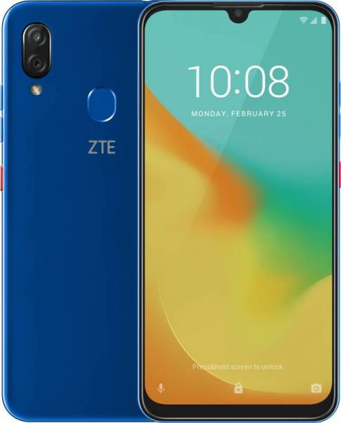 Смартфон ZTE Blade V10 VITA (2+32) BLUE AQUAMARINE Blue Spreadtrum SC9863(1.6)/2 Gb/32 Gb/6.26 (1520 x 720)/DualSim/LTE/NFC/BT/Android 9.0 смартфон huawei p smart z black hisilicon kirin 710f 2 2 4 gb 64 gb 6 59 2340 x 1080 dualsim lte nfc bt 4 2 android 9 0