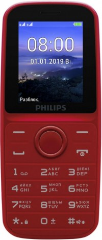 Мобильный телефон Philips E109 Red 1.77