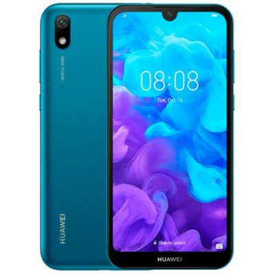 Смартфон Huawei Y5 2019 Blue MediaTek MT6761 (2.0)/2 Gb/16 Gb/5.71 (1520 x 720)/DualSim/LTE/NFC/BT/Android 9.0 смартфон doogee bl5500lite gold mediatek mt6739 1 3 16 gb 2 gb 6 19 1500x720 dualsim 3g 4g bt android 8 1