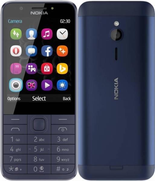 Мобильный телефон Nokia 230 Dual Sim RM-1172 Blue 16 Mb/32 Mb/2.8 (320 x 240)/DualSim/BT цена