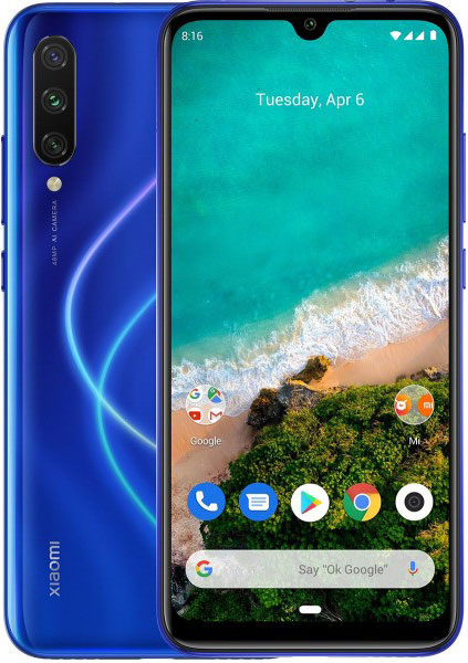 "Смартфон Xiaomi Mi A3 M1906F9SH Not just Blue Qualcomm Snapdragon 665 (2.0)/4 Gb/64 Gb/6.088"" (1560 x 720)/DualSim/LTE/NFC/BT/Android 9.0"