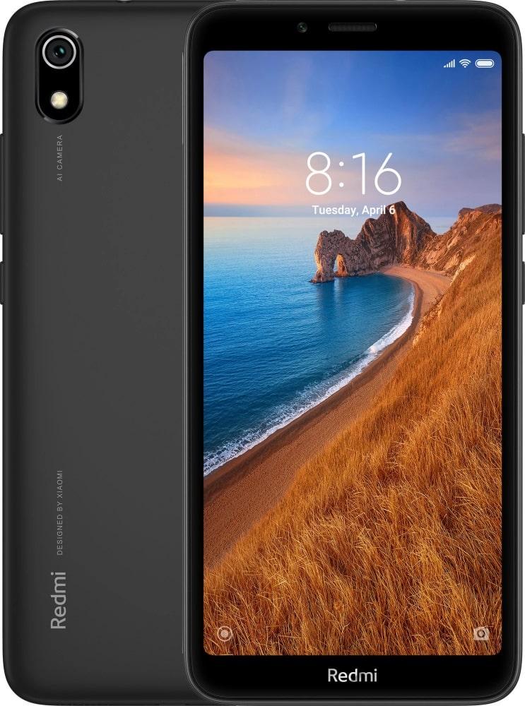 "Смартфон Xiaomi Redmi 7A M1903C3EG Matte Black Qualcomm Snapdragon 439 (1.95)/2 Gb/32 Gb/5.45"" (1440 x 720)/DualSim/LTE/BT/Android 9.0"