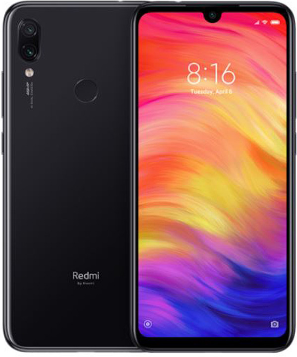 Смартфон Xiaomi Redmi Note 7 Space Black (M1901F7G) 8 Core (2.2GHz+1.8GHz)/4GB/64GB/6.3'' 1080x2340/48Mp+5Mp/2 Sim/LTE/BT/WiFi/GPS/Glonass/Android 9.0