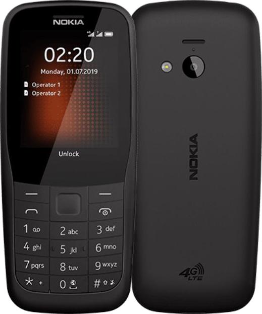 Мобильный телефон Nokia 220 4G DS TA-1155 Black 16 Mb/24 Mb/2.4 (320 x 240)/DualSim/LTE/BT смартфон tecno la7 midnight black mediatek mt6737 1 3 2 gb 16 gb 6 1440 x 720 dualsim lte bt 4 0 android 8 1