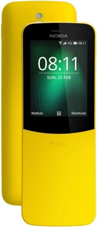 Мобильный телефон Nokia Nokia 8110 4G Yellow MSM8905 (1,1)/512 Mb/4 Gb/2.45 (320 x 240)/DualSim/LTE/BT 4.1/KaiOS смартфон tecno la7 midnight black mediatek mt6737 1 3 2 gb 16 gb 6 1440 x 720 dualsim lte bt 4 0 android 8 1
