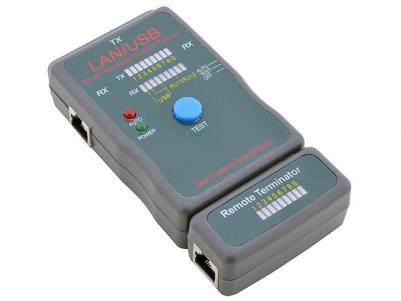 Тестер кабеля 5bites LY-CT011 и его длины для UTP/STP RJ45 RJ11/12 USB чехол тестер кабеля 5bites ly ct001 hl 001 для utp stp rj45 bnc