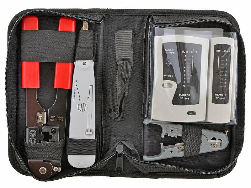 Набор инструментов 5bites TK030 (клещи LY-T210C, Krone LY-T2020, нож LY-501C, тестер LY-CT005) цена