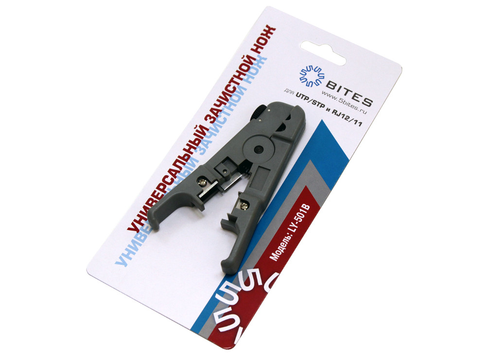 цены Универсальный зачистной нож 5bites LY-501B для UTP/STP и тел.кабеля, регулировка лезвия (шайба)