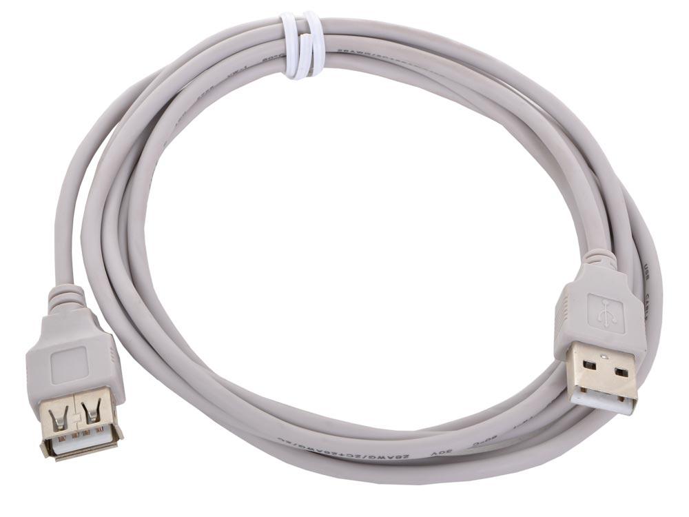 Кабель удлинитель USB 2.0 AM/AF Gembird/Cablexpert, 1.8м, пакет CC-USB2-AMAF-6 аксессуар konoos usb 2 0 am af 0 75m black kcr usb2 amaf 0 75
