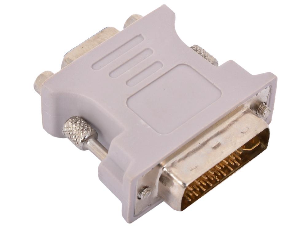 Переходник DVI-I-VGA Cablexpert A-DVI-VGA-BK, 29M/15F , черный, пакет аксессуар greenconnect dvi i vga 29m 15f gc cv103