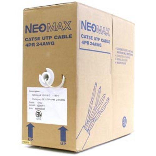 Сетевой кабель бухта 305м UTP 5e Neomax NM10001 Медь, 4 пары(одножильный), 24AWG/0.51мм, 125МГц/89 Ом, PVC, Taiwan цена и фото