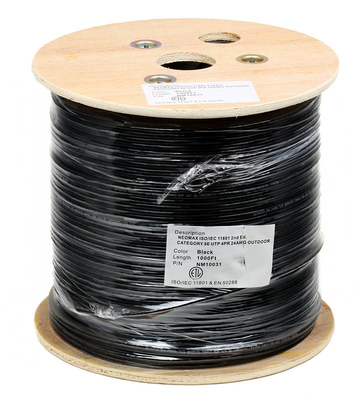 цена на Сетевой кабель бухта 305м FTP 5e Neomax NM20031 Медь, внешний, 4 пары(Solid), 24AWG/0.51мм, PVC+HDPE, Taiwan