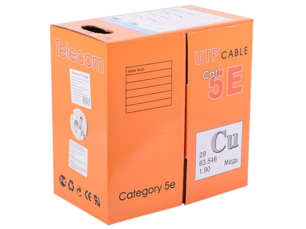 Сетевой кабель UTP 5e Telecom Light CU TC1000C5ELigh(CU) Indoor solid (4 пары, бухта 305м) (Медный)