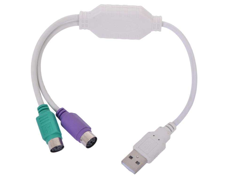 Кабель-адаптер USB AM -2xPS/2 Gembird UAPS 12, блистер кабель адаптер usb am