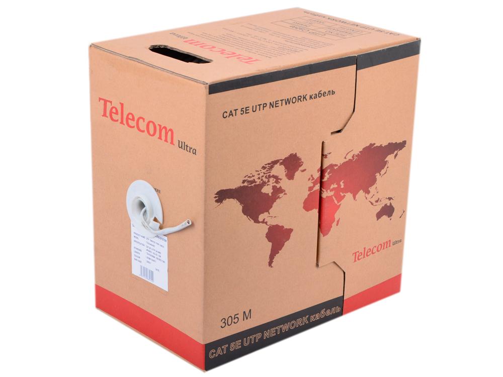 Кабель Telecom Ultra Base (TUS 44048) UTP кат.5е 4 пары, бухта 305м омедненный Green\Orange\gray