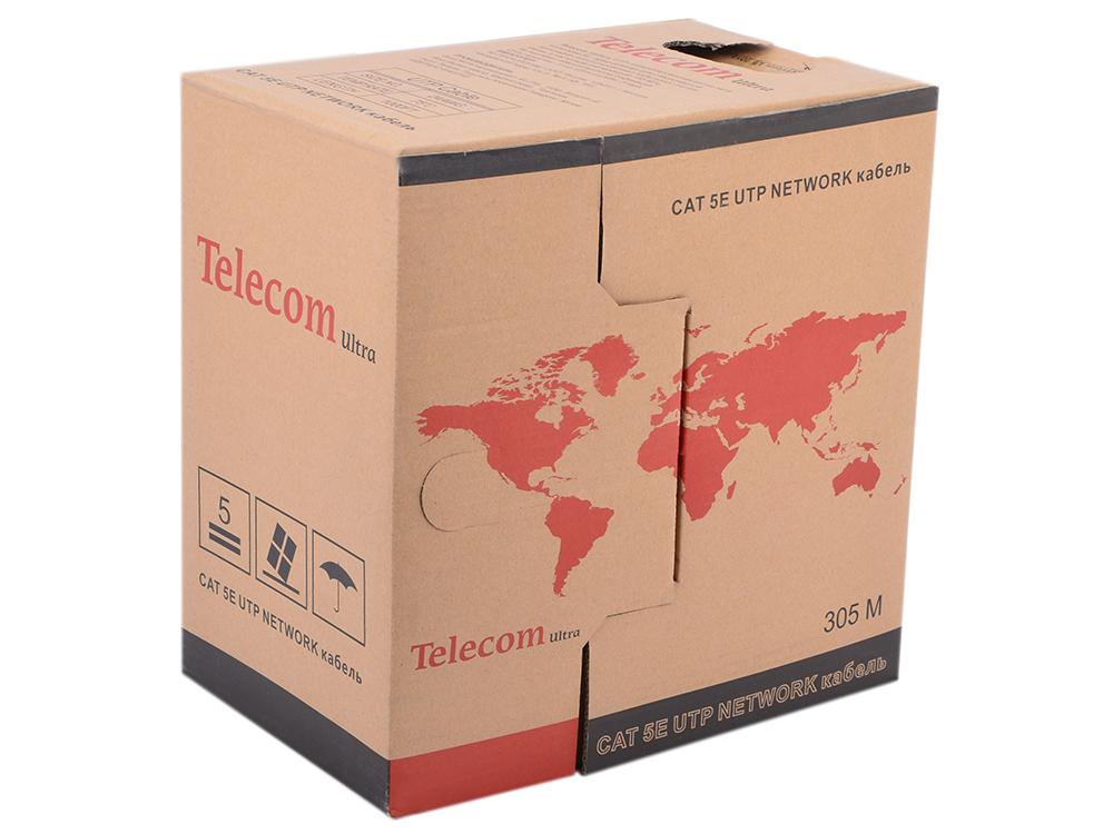 Кабель Telecom Ultra Base UTP 2 пары кат.5е (бухта 305м) p/n:TUS42048E 2 пары, бухта 305м омедненный цена