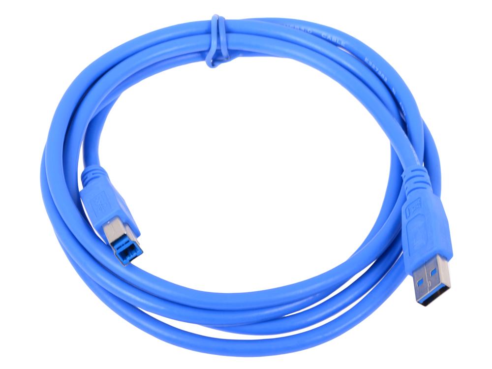 Кабель USB 3.0 Pro Gembird/Cablexpert AM/BM, 1.8м, экран, синий, пакет аксессуар gembird cablexpert otg usb af to samsung bm 30 pin 0 15m a otg af30p 001