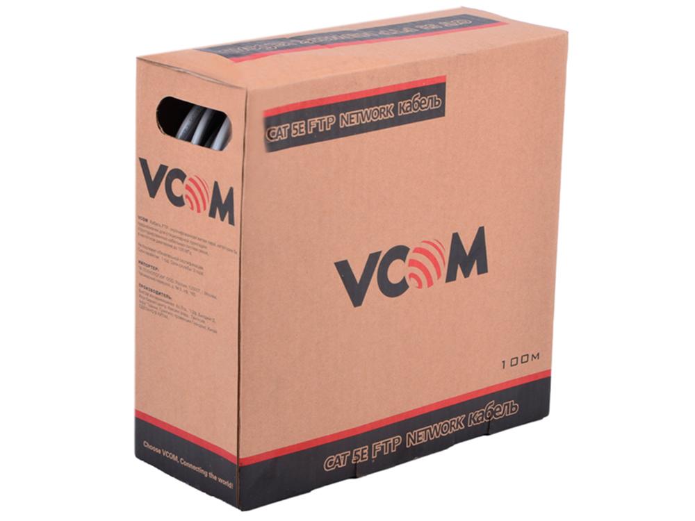 Сетевой кабель бухта 100м FTP 5e VCOM 4 пары цена и фото
