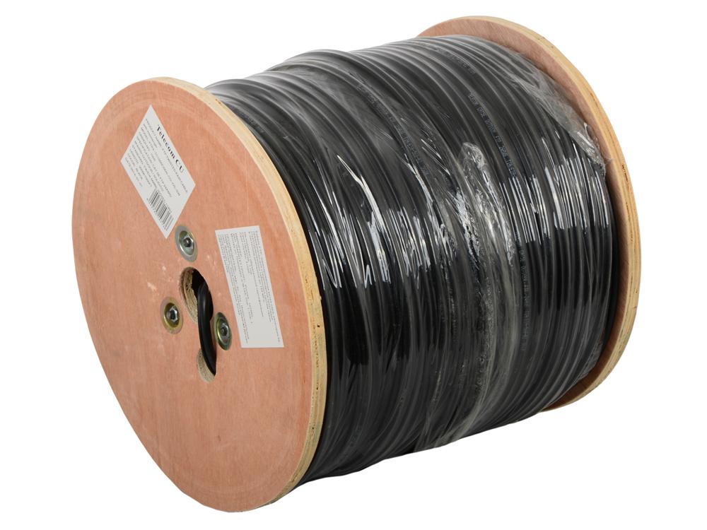 Сетевой кабель бухта 305м FTP 5e Telecom TC1000C5EN(CU) 4 пары, медный, с тросом, для внешней проводки