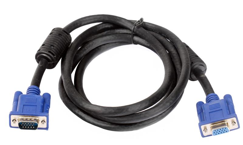 Кабель удлинительный Монитор-SVGA card (15M-15F) 1.8m 2 фильтра VCOM [VVG6460-1.8M] кабель удлинительный монитор svga card 15m 15f 1 8m 2 фильтра vcom