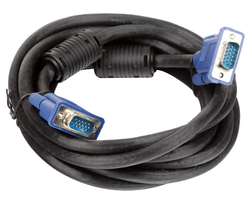 цена на Кабель монитор-SVGA card (15M-15M) VCOM [VVG6448-3M] 3.0м 2 фильтра
