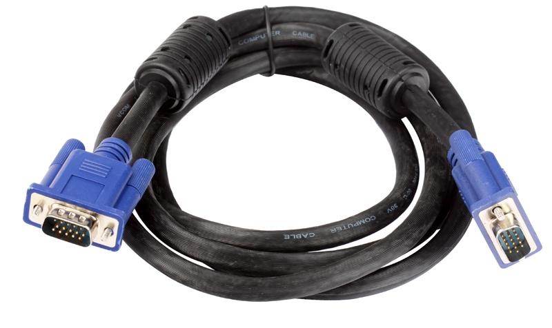 Кабель монитор-SVGA card (15M-15M) 1,8м 2 фильтра VCOM VVG6448-1.8M кабель удлинительный монитор svga card 15m 15f 1 8m 2 фильтра vcom