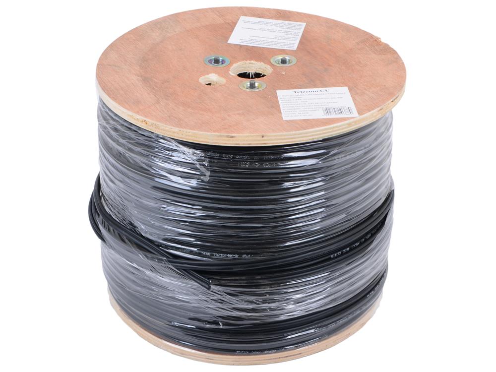 цена на Сетевой кабель бухта 305м UTP 5e Telecom TC1000C5EN - Cu - OS- SW 4 пары, внешний, с тросом