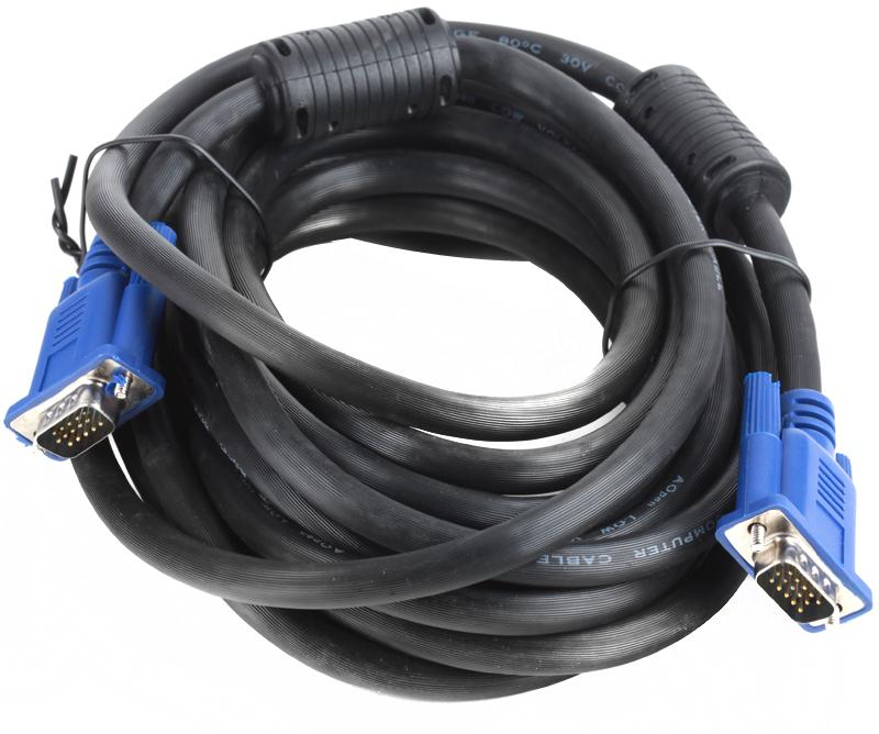 Кабель AOpen ACG341AD-5M монитор-SVGA card (15M-15M) 5м 2 фильтра кабель