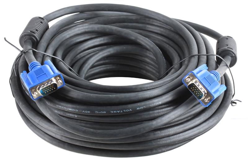 цена на Кабель AOpen ACG341AD-20M монитор-SVGA card (15M-15M) 20м 2 фильтра