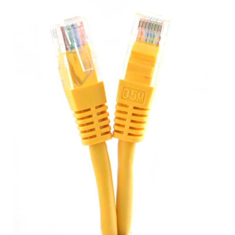 Фото - Патч-корд литой медный Belsis BW1487 UTP 5e кат. RJ45 вилка - RJ45 вилка, длина 0.5 м, жёлтый hyperline pc lpm stp rj45 rj45 c6 1 5m lszh or патч корд f utp экранированный cat 6 lszh 1 5 м оранжевый