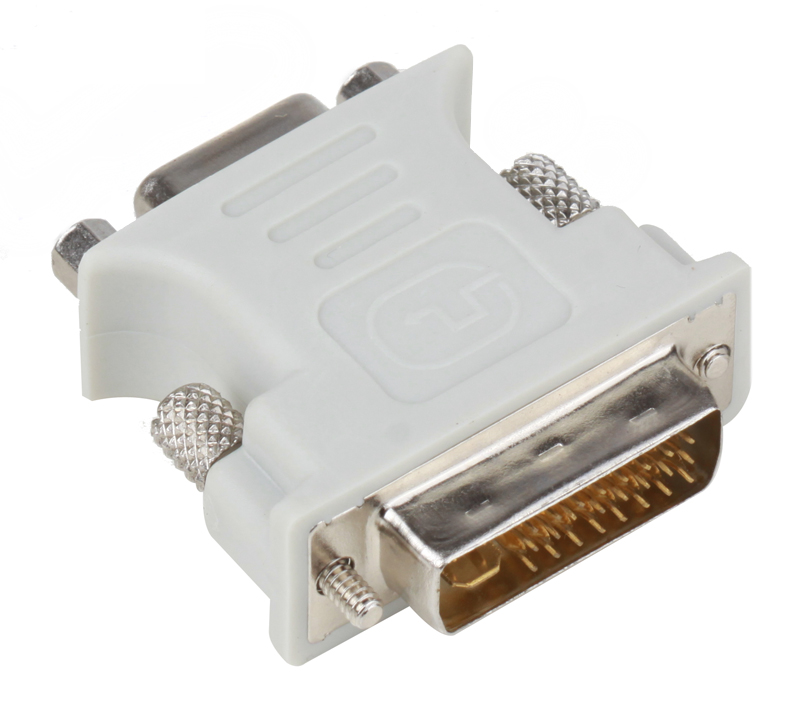 Переходник Aopen DVI-I -- VGA(15F) ACA301 переходник buro dvi i m vga f vga 15f dvi i plug